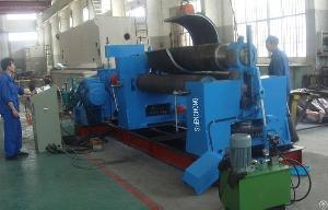 mechanical symmetry 3 roller bending machine 30mm 2000mm sheet metal rolling