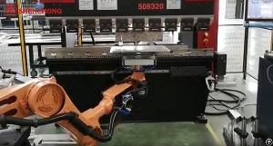 robotic press brake sheet metal bending line