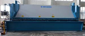 Sheet Metal Plate Hydraulic Guillotine Shear Machine 12�6000mm