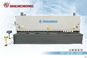 sheet metal steel plate hydraulic guillotine shear machine