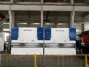 tandem hydraulic press brake heavy duty sheet metal plate bending