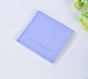 blue velvet flap jewelry pouch factory