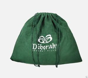 emerald suede dust drawstring bag shoes handbag