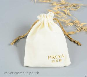 Small Velvet Cosmetic Pouch