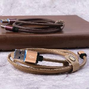 Lito 001 Durable Leather Usb Charging Cable For Iphone