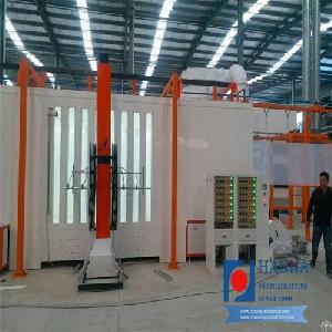 farm machinery powder coating line mono cyclone recovery system