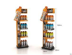 Customized Promotional Metal Floor Display Stand / Dumpbin / Standee