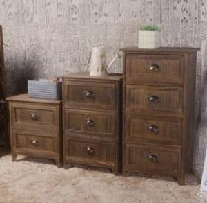 brown bedside table drawers