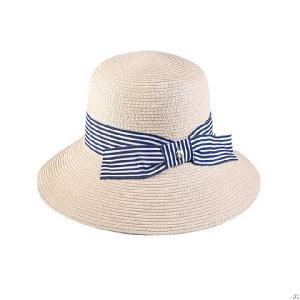 paper braid bucket hat bowknot