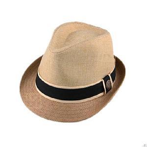 splicing paper straw fedora hat
