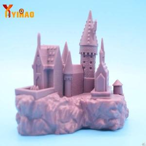 Factory Custom Injection Vinyl Plastic Castle Christmas Yard Ornaments