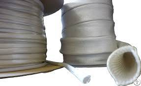 Glass Fiber / Fiberglass Braided Sleeve For Hose And Cable Protection