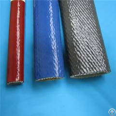 hose cable wire protection silicone rubber coated fiberglass sleeve