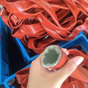 silicone coated fiberglass braided heat shielding fire sleeve