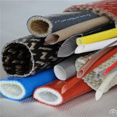 silicone rubber coated fiberglass temperature hose sleeve cable wire heat protection