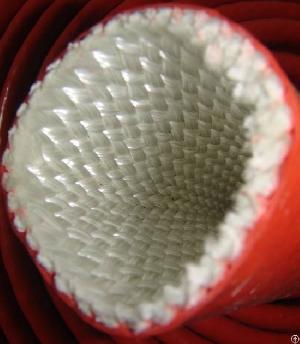 silicone rubber fiberglass fire protection sleeve hose cable wire