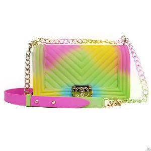 golden chain candy jelly purses handbags ladies