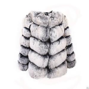 short fox fur coat