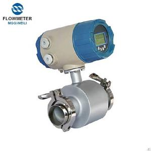 Stainless Steel Sanitary Electromagnetic Flowmeter China