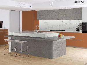 quartz stone kitchen wall