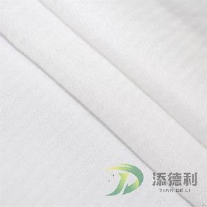 cotton herringbone bleached fabric