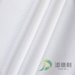 Polyester Herringbone Bleached Fabric