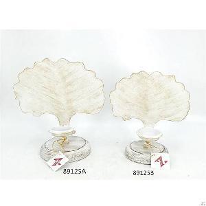 fashion metal hollow leaf shape candle holder home decoration