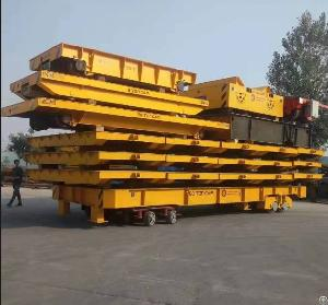 Construction Machinery Material Steel Plate Cargo Delivery Rail Track Trolley