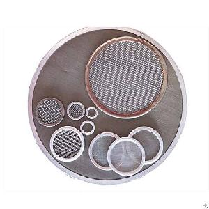 ss 304 316 stainless steel wedge wire mesh filter leaf disc clear filtering