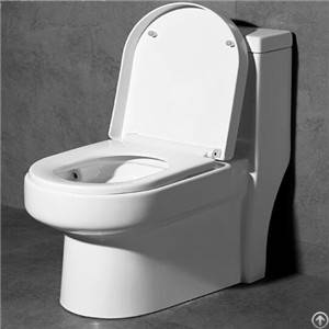 Floor Mounted Noiseless Closing Water Saving One-piece Toilet China Manufacturer