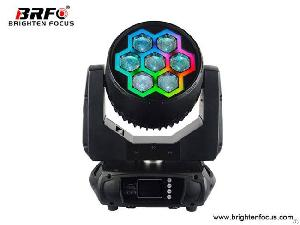 Moving Head Disco Events Lights Led Rgbw 7�40w With Pixel Ring