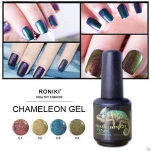 roniki chameleon gel nail art