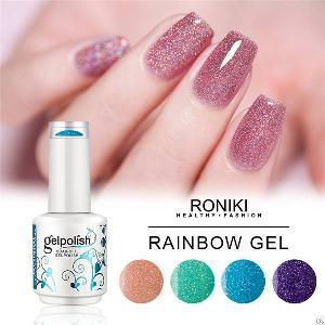 roniki rainbow gel nail matte polish