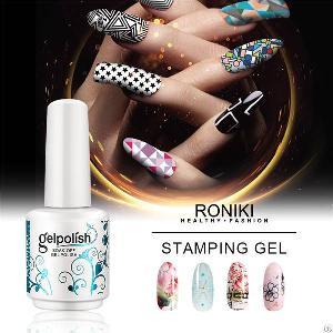 roniki stamping gel nail art