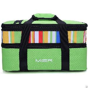 mier insulated casserole carrier expandable lunch tote