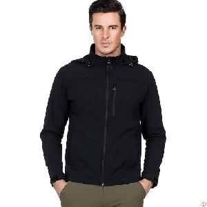 Mier Mens Hooded Softshell Fleece Lined Jacket