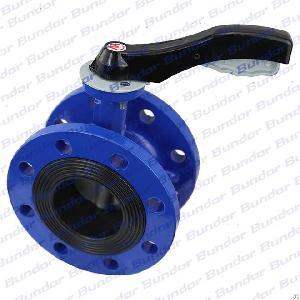 bundor dn50 dn250 handles flange butterfly valve lever operated 2 flanged