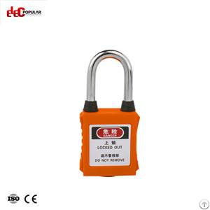 38mm dustproof steel shackle safety padlock ep 8521d 8524d abs