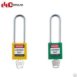 76mm stainless steel shackle safety padlocks abs padlock