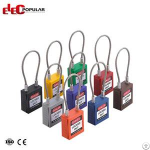 steel cable shackle safety padlocks ep 8541 8544