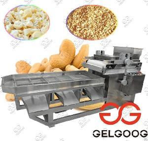 200kg / H Cashew Peanut Cutting Machine
