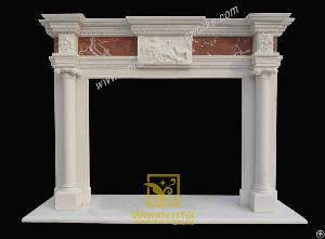 Hand Carved Stone Fireplace Mantel Antique Fireplace Western Style