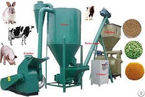feeding poultry feed pellets
