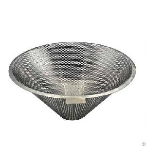 Stainless Steel Punching Hole Basket Cone Strainer Filter