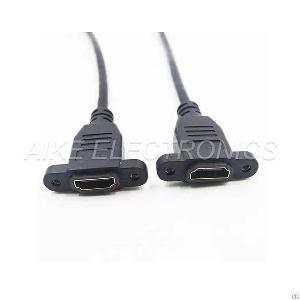 hdmi female cable 4k 2k screw holes