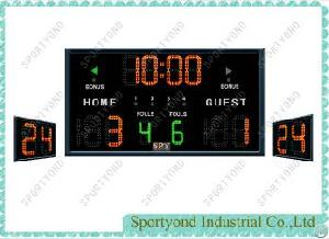 Basketball Electronic Led Scoreboard And Basketball 24 / 14 Shot Clock