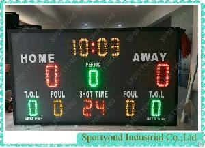 basketball game volleyball sports electronic scoreboards scorer