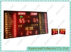 basketball gymnasium electronic digital scoreboard shot timer