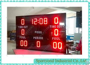 Basketball Time Out Scoreboard Foul Period Scoring Cards