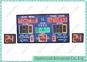 Gym Basketball Scoring Board And 24seconds / 14 Seconds Attack Timer Display